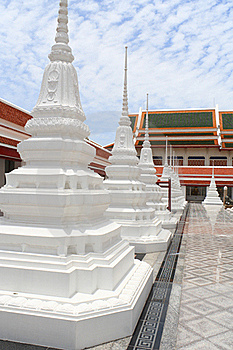 White Pagoda In Thai Temple Stock Photography - Image: 15766652