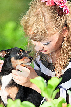 Woman And Dog Royalty Free Stock Images - Image: 15766779