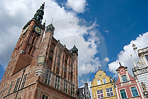 Gdansk Old Town, Neptune Statue And City Hall Stock Photos - Image: 15766903