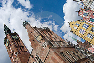 Gdansk Old Town And City Hall Stock Photography - Image: 15766922