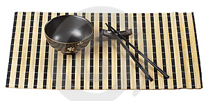 Bowl And Chopsticks Royalty Free Stock Image - Image: 15766976