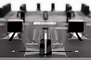 Professional Mixing Controller For Dj Royalty Free Stock Image - Image: 15767106