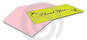 Thank You Card Stock Photos - Image: 15769213