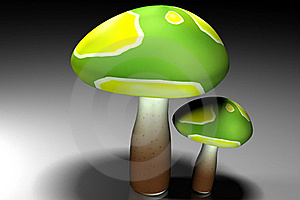 3d Mushroom Royalty Free Stock Photography - Image: 15769537