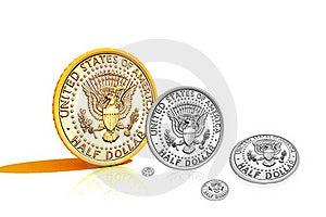 Half Dollar Royalty Free Stock Image - Image: 15769616