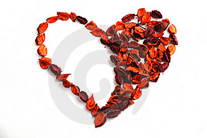 Dry Flowers In Shape Of Heart Stock Photos - Image: 15770743