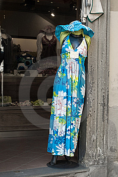 Dress In An Italian Boutique Stock Image - Image: 15770781