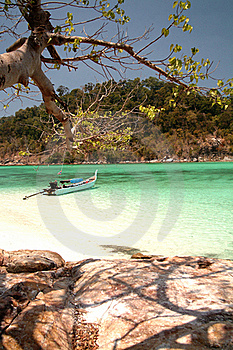 Thai Boat Near The Beach , Andaman Sea , Thailand Stock Images - Image: 15770934