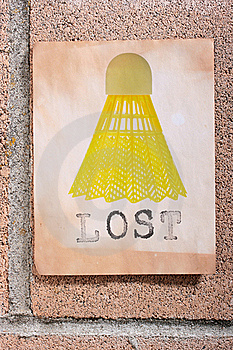 Lost Shuttlecock Stock Images - Image: 15771674