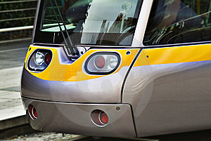 Front Of Tramway In Dublin Royalty Free Stock Photography - Image: 15775137