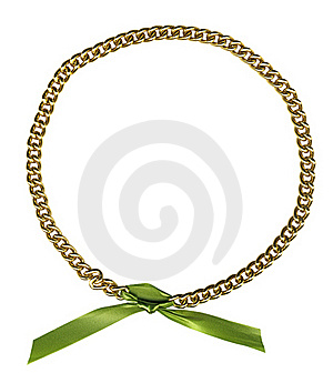 Circle Frame From Gold Chainlet Stock Photos - Image: 15775253