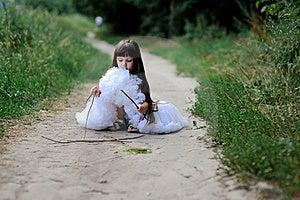 Adorable Toddler Girl In White Tutu Skirt Royalty Free Stock Image - Image: 15775506
