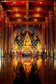Buddha Image In A Temple Stock Photography - Image: 15775722
