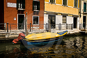 Boat In A Canal Stock Image - Image: 15775801