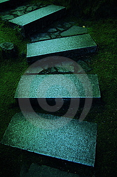 Stone Steps In Japanese Garden Stock Image - Image: 15777631