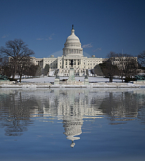 Capitol Hill With Reflection Stock Photo - Image: 15781280