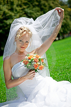 Bride With A Wedding Bouquet Stock Image - Image: 15781861