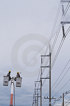 Firemen On A Lift Up Stock Images - Image: 15782664
