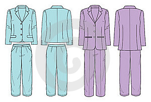 Suit With Jacket And Pants For Women Stock Images - Image: 15782814