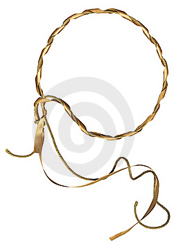 Circle Frame From Rope And Ribbon Stock Image - Image: 15783271