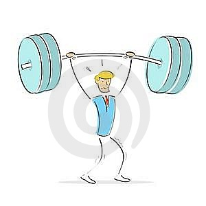 Man Doing Weight Lifting Stock Photography - Image: 15785832