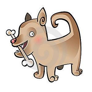 Dog With Bone Royalty Free Stock Images - Image: 15787699