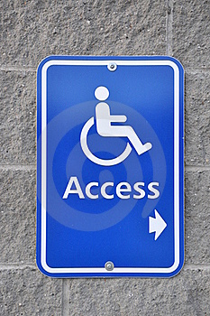 Disable Access Sign Stock Photography - Image: 15787872