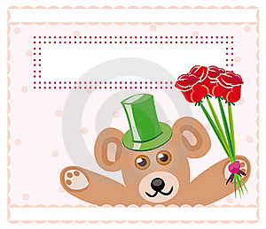 Teddy Bear With Roses Royalty Free Stock Images - Image: 15789099