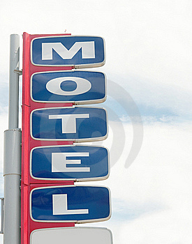 Motel Road Sign With Sky Stock Photography - Image: 15791242