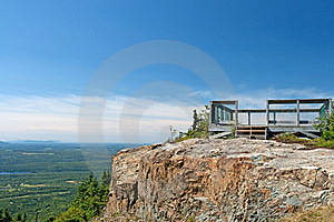 Touristic Viewpoint On A Cliff Royalty Free Stock Photo - Image: 15792045