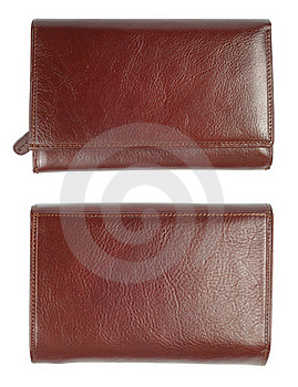 New Brown Leather Wallet Stock Photo - Image: 15793160