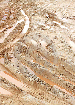 Closeup Of Country Muddy Rut Royalty Free Stock Images - Image: 15793319