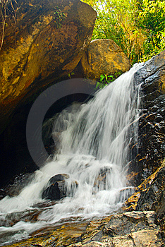 Waterfall South In Thailand Royalty Free Stock Image - Image: 15794326