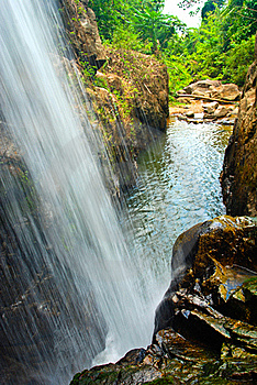 Waterfall South In Thailand Royalty Free Stock Images - Image: 15794419