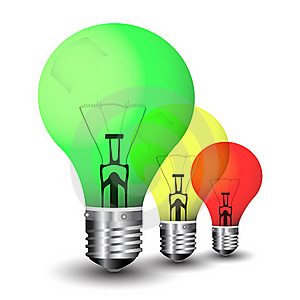 Colored Light Bulbs In Multitude Royalty Free Stock Photos - Image: 15795328