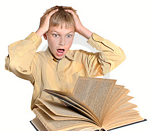 Teenager Reads Book Stock Image - Image: 15796531