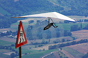 Hang Glider Pilot In Italian Mountains Royalty Free Stock Photography - Image: 15797237