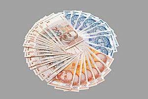 Croatian Kuna Banknotes Isolated On Gray Royalty Free Stock Photo - Image: 15797565