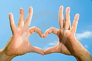 Male Hands Folded In The Shape Of The Heart Stock Photography - Image: 15799322