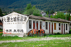 Old Bus Station Royalty Free Stock Photography - Image: 15799727