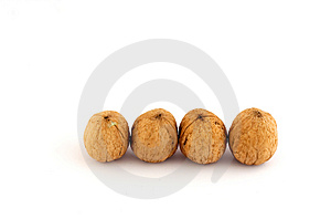 Four Walnuts Royalty Free Stock Images - Image: 1580219