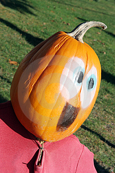 Pumpkin Person Stock Images - Image: 1580484
