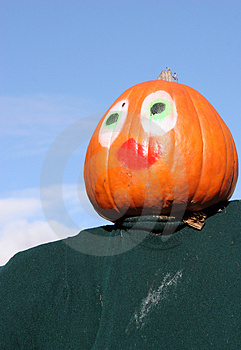 Pumpkin Person Stock Image - Image: 1580501