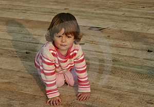 Girl On The Stage Royalty Free Stock Image - Image: 1580636