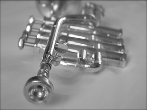 Silver Trumpet II Royalty Free Stock Photos - Image: 1585048