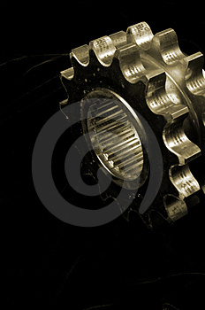 Golden Gears Stock Photo - Image: 1586270