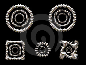 Silver Shapes Royalty Free Stock Images - Image: 1588259