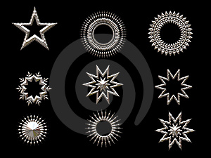 Silver Shapes Royalty Free Stock Images - Image: 1588319