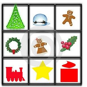 Christmas Window Illustration Royalty Free Stock Photography - Image: 15800107