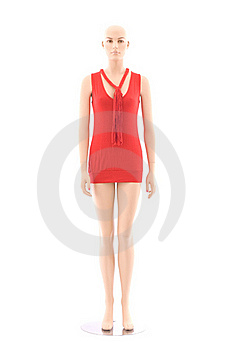 Mannequin And Red Clothing | Isolated Royalty Free Stock Image - Image: 15800356